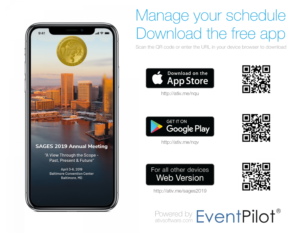 Get the App! - SAGES 2019